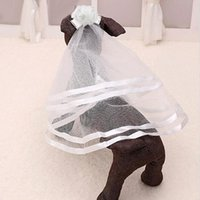 Bridal Pet Supplier Cute Dog Puppy Cat Wedding Headdress Veil Headwear Hair Clips Grooming Apparel