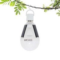 태양 램프 야외 12W 7W E27 LED 비상 빛 방수 매달려 충전식 램프 AC 85-265V 하이킹 캠핑 텐트 낚시에 대 한
