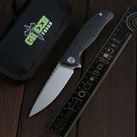 Green Thorn F3NS Углеродное волокно + TC4 Титана Ручка K110 Blade Открытый Кемпинг Охота Охота Практический Складной Нож EDC Инструмент