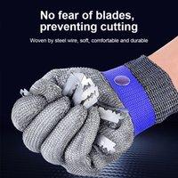 Pure Gloves Steel Wire Cut Resistant Metal Stainless Wear-resistant Butcher Seguridad Self Defense
