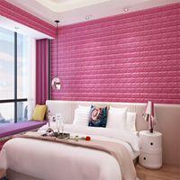 3d ملصقات الحائط الطوب نمط للماء الذاتي ذاتية اللصق خلفيات غرفة ديكور المنزل للأطفال نوم المعيشة ملصق 422 S2