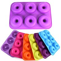 Silicone Donut Molds for Baking Mould Food Grade Doughnut Maker 6-cavity Non-stick Full-sized Safe Tray Pan Cake Biscuit Bagels Muffins Heat Resistance