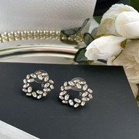 Bloem Stijl Desingers Oorbellen Luxurys Crystal Circle Hoop Mode-sieraden Elegante Stijlvolle Nobele Oor Loop Gift Vrij leuk