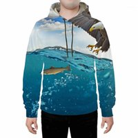 Men's Hoodies & Sweatshirts Autumn And Winter Products Sea Osprey Eagle 3D Digital Printing Clothing Men's Women's Casual Long-sle