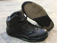 5s Premium Pinnacle Black Jumpman 5 Basketballschuhe Echtes Leder Outdoor Sport Turnschuhe