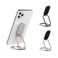 Cep Telefonu Bağları Tutucular Masaüstü Metal Katlanabilir Ayarlanabilir Yüzük Araba Manyetik Evrensel Tutucu Braketi Huawei Accessori için
