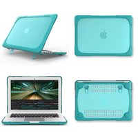 TPU PC Laptop Cases for MacBook Air Pro Retina 11 12 13 15 16 inch 360° Shockproof Anti-drop Full Protection Cover