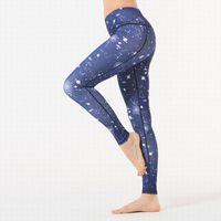 Мода женщины эластичные йоги брюки высокие талии спортивный тренажерный зал носить леггинсы многоцветные фитнес леди общие полные колготки тренировки йогалу размер S-3XL