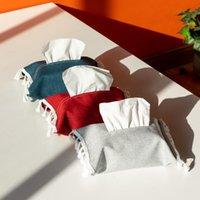 Tissu Tissu Box Coton Linge de lin Porte-serviette Papier de pompage Papier de couverture pour toilettes de voiture Boîtes de conteneur