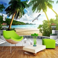 Wallpapers Dropship Custom Murals Sea Continental Landscape Wall 3D Po Papers Roll Home Decor Papel Parede Sala Rolo