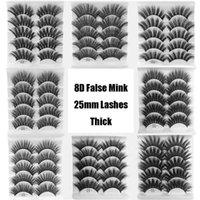 Thick 5in1 8D 22mm Faux Mink Lashes Full Strip Long Dramatic Soft Messy Vegan Cruelty Free Beauty Vendors Eyelash Extensions Set False Eyela