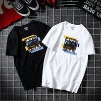2021 Camiseta de manga corta de anclaje de la pista rápida Kwai, tamaño grande, media marea de manga, gran código suelto.