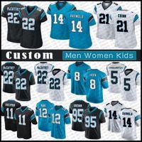 8 Jaycee Horn 14 Sam Darnold Custom Men Mulheres Kids Football Jersey CarolinaPanther 22 Christian McCaffrey 21 Jeremy Chinn A.J. Bouye Denzel Perryman Haason Reddick