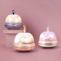 Portable Speakers Wireless Bluetooth Speaker 5.0 Mini Noise Reduction Starry Sky Projection Lamp Music Box 360 Broadcasting
