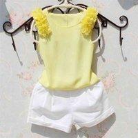 New Arrival Blouses Summer Girls Children Chiffon Sleeveless Blouse Kids Girl Solid Color Shirts Teenage School Girl Tops 210430