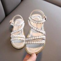 Girl Sandals Summer Kids Baby Girls Bling Rhinestone Princess Single Sandals For Little Big Girls Shoes