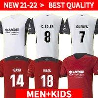 21 22 Thailand Valencia 축구 유니폼 2021 2022 Guedes Gameiro Camisetas de Fútbol Rodrigo M. Florenzi M.Gómez 남자 키트 축구 셔츠