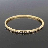 Braccialetti di cristallo rotondo di lusso in acciaio inox 3mm Braccialetti per le donne Amore regalo di nozze gioielli