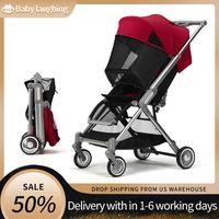 Designer de luxe poussette bébé bébé léger pliable assise et inclinable amortisseur à quatre roues Amortisseur élevé