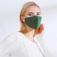 مصممة أقنعة الوجه حزب مطرزة للبالغين قابل للتعديل حلقة الأذن مكافحة الغبار يندبروف قناع القماش يمكن وضع PM2.5 مرشحات FY0114