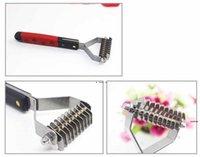 다기능 실용적인 유용한 13 블레이드 애완 동물 정리 열린 머리카락 매듭 브러쉬 스테인레스 스틸 튼튼한 강아지 케어 빗 HWF5969