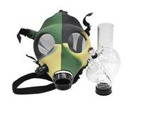Silicone Mash creativo in silicone in silicone fumo tubo maschera gas acrilico Bongs tubi in plastica Bruciatore di olio tubo acqua Bongsmoke tubi a mano 295 v2