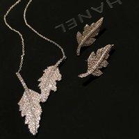 Summer Asymmetric Leaf Earrings Design Sense Necklaces Feathers Tassels Long Chains