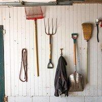 Hooks & Rails 1PC Wall Metal Tool Storage Hook Set Garage Tools Hanger Organization Garden Supplies Home Spade Shed D X7E8