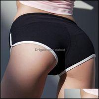 Yoga exercício desgaste esportes ao ar livre esportes outdoorsyoga outfits ginásio treino shorts mulheres fitness roupas activewear para drop deliv