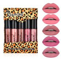 Teayason 5pcs Nudo opaco Liquido Liquid Liquid Set Sexy Sexy Red Velvet Lip Gloss Impermeabile Lunga durata Trucco Tinta Tinta bellezza bellezza