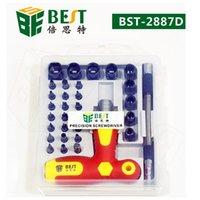 BST-2887D 33pcs Tournevis de précision Set Dual-Drive Kit Réparation pour les téléphones de montre PC Maintenance électronique Téléphone cellulaire Outils de réparation