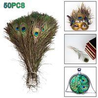 Plumes de paon véritable naturel 25-30cm de haute qualité Beaux yeux Plumes pour bijoux de bricolage Home Couronnes de fleurs de plumes décoratives