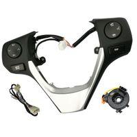 84250-02560 Boutons Téléphone Bluetooth Secteur de la roue de roue de roue de roue audio pour Toyota Corolla Rav4 2014 Silver Cadre Câble Câble Câble