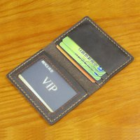 Handmade Vintage Genuine Leather men Credit Card holder small business case