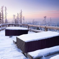 Cover Oxford Fabric Furniture Waterproof Garden Rainproof Snowproof For Outdoor (Black 180x120x74cm) Shade