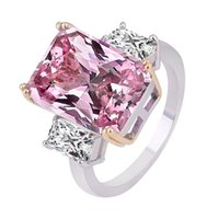 Cluster Rings 2021 Luxury Pink 925 Sterling Silver Engagement Ring For Women Lady Anniversary Gift Jewelry Drop R5235