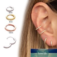 Fashion 1pc Mosaic Colored Zircon Ear Bone Hoop Earing Ring for Women Round Puncture CartilageTiny Helix Piercing Tragus Jewelry Factory price expert design