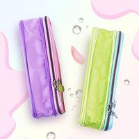1pcs Japan WSG-PCC12 Kokuyo Light Color Cookie Series Pencil Case Double Zipper Large Capacity Stationery School Supplies Bags
