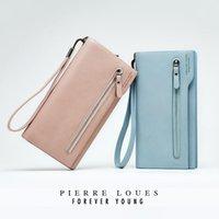 Wallets Forever Young 7 Colors Women Brand Design Elegant Clutch Bag Muti Cards Holders Cash Phone Bags Wristlet Purses