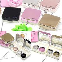 미니 세련된 간단한 콘택트 렌즈 여행 케이스, Aneky Contains Kit Set Contacts Contact 렌즈 하드 케이스 키트 거울 병 핀셋 Con 198 V2