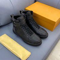Louis Vuitton Shoes LV Leather High Top Top Luxury Casual Scarpe Designer Designer Sneakers Uomo Scarpe da uomo in vera pelle Moda Misto