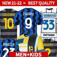 20 21 Jersey di calcio Milano Eriksen Lukaku Lautaro Alexis 2020 2021 Perisic Skriniar Godín Camicia da calcio Uniformi Uomo + Kid Kit