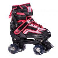 어린이 더블 라인 롤러 스케이트 아이들을위한 인과 스케이트 신발 조정 가능한 스니커 즈 플래시 PU 휠 Patins 스포츠 슬라이드 무료 인라인