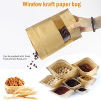Hanging Baskets 50pcs Set Reusable Food Storage Bag Zero Waste Sealed Kraft Paper Dry Nuts Snacks Candy Bags Wedding Packing Container