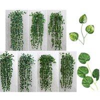 Joy-Llife 1PC 90cm Hiedra Artificial Plantes Vert Feuilles De Mariage Jungle Jungle Partie Plantas Artificiels Para Décor Fleurs Décoratives Wre