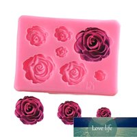 Rose Flower Silicone Molds Wedding Cupcake Topper Fondant Cake Decorating Tools Sugarcraft Candy Clay Chocolate Gumpaste Moulds