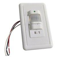 Alterne 110V Sensor de Corpo Automático IR Sensores Infravermelhos Detector de Movimento Montagem de parede Luz Ao Ar Livre (Branco)