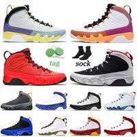 retro 9 9s CON CAJA 9 9s IX Zapatillas de baloncesto 2021 Flor de cactus de alta calidad Negro Azul para hombre Mujer Jumpman Sports Gym Zapatillas de deporte rojas