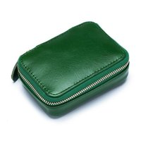 Cosmetic Bags & Cases Coin Pure Change Bag Female For Girl Lady Lipstic With Mirror Mini Woman Wallet Cow Leather