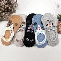 27 Style 10 Piece=5 Pairs Lot Cute Harajuku Animal Women Socks Set Funny Autumn Cat Dog Rabbit Panda Low Cut Ankle Sock Happy